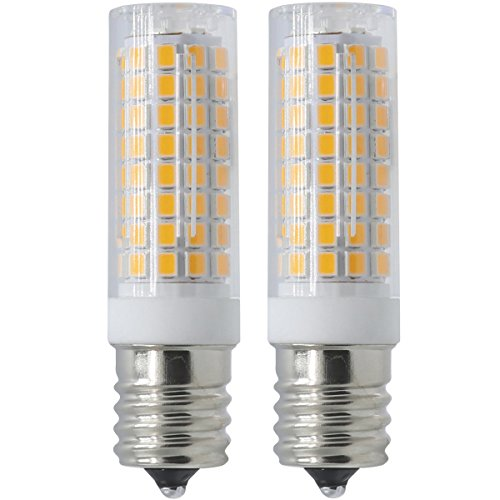 XRZT Ceramic E17 LED Bulb for Microwave Oven Over Stove Appliance, 7 Watts(75W Halogen Bulbs Equivalent), AC110-130V, Warm White Intermediate Base, Dimmable, Pack of 2