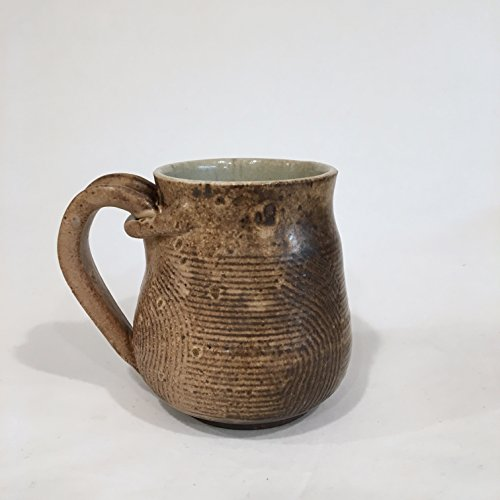 Textured Coffee Mug, Handmade Ceramic Coffee Mug, Pottery Mug 13 OZ TUHCM4