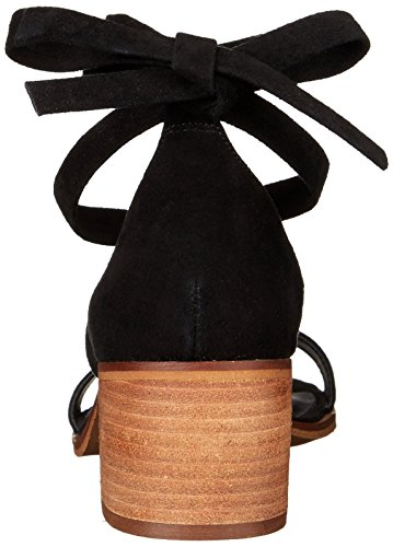 Steve Madden de las mujeres rizzaa Heeled Sandal Negro GamuzaBlack Suede)