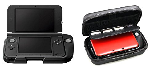 Nintendo 3DS LL Accessory Circle Pad Pro & Storage Pouch Case Set Japan (3DS LL Console Not Included)