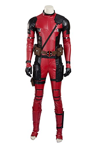Nedal Halloween Men Costumes PU Full Bodysuit Leather Cosplay Onesie XL