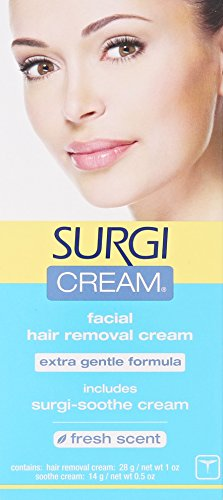 Surgi-cream Hair Remover Extra Gentle Formula For Face, 1-Ounce Tubes (Pack of 3)