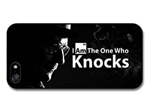 AMAF ? Accessories Breaking Bad Walter White I Am the One Who Knocks Quote Black Background case for iPhone 5 5S wangjiang maoyi by lolosakes