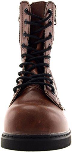 Casual Reißverschluss Fach mit 303 9 Braun MITTE Schuhe Maxstar 4wUBYqnxw