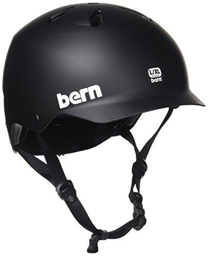 Bern Black Summer Helmet - 2017 Watts EPS Summer (MIPS Matte Black, Small/Medium)
