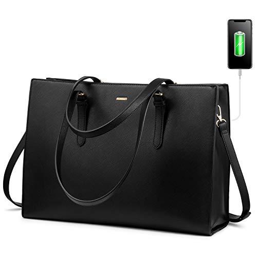 LOVEVOOK Laptop Bag for Women Computer Tote Bag Handbag Shoulder Bag Purse Business Work Briefcase Travel Bag, 15.6-inch…