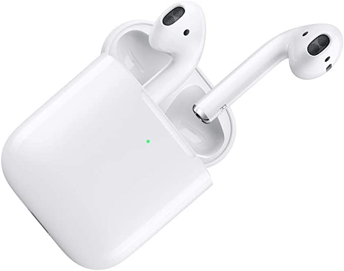 Apple AirPods with Wireless Charging Case - White (Renewed)