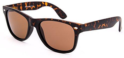8841 Modern Classic Wayfarer Sunglasses, Spring Hinge (Polarized/Gloss Tortoise Frame/Amber - Jfk Style Sunglasses