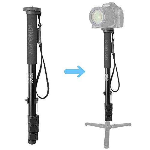 Aluminum Photo Video Monopod Alpenstock, Kamisafe 52/133cm 4-Section Flip Locks Monopod Unipod 1/4 and 3/8 Convertible Screws for DSLR Camera Camcorder Mobile Slider