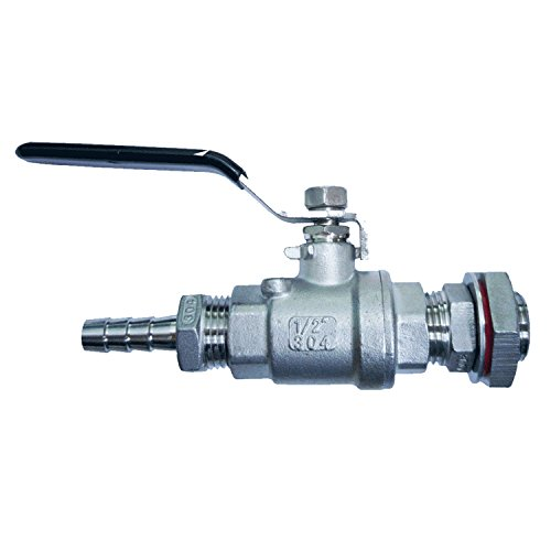 brew kettle with ball valve - 3