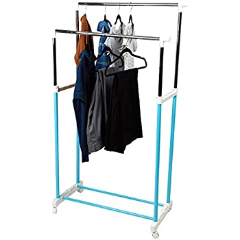 Amazon Com Mind Reader Double Rail Rolling Clothing