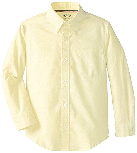 French Toast Big Boys' Long Sleeve Oxford Dress Shirt, Ye...