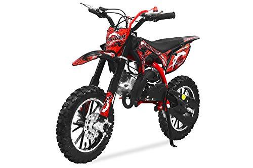 49cc Panther Dirtbike 10/10 Zoll Pocketbike Crossbike Kinderbike (Blau)