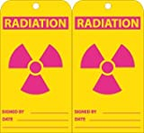 NMC RPT85, Accident Prevention Tag w/Legend:''Radiation'', 12 Packs of 25 pcs