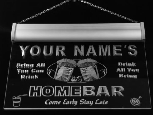 ADV PRO p1107-b Woods Home Bar Beer Family Last Name Neon Light Sign by AdvPro Name (Image #2)