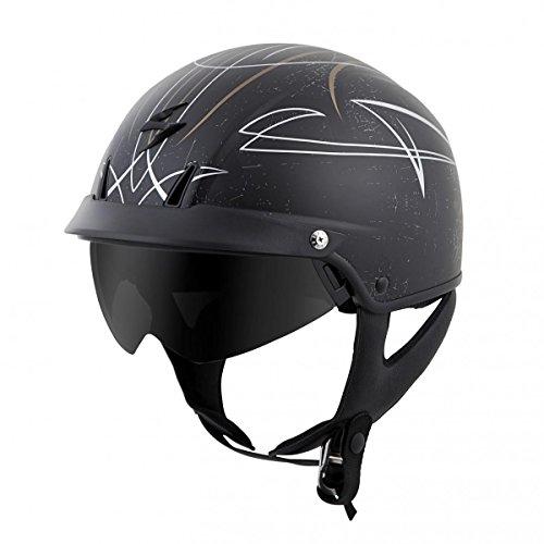 (ScorpionExo EXO-C110 Unisex-Adult Half-Size-Style Pinstripe Helmet (Gold/Silver, Medium))