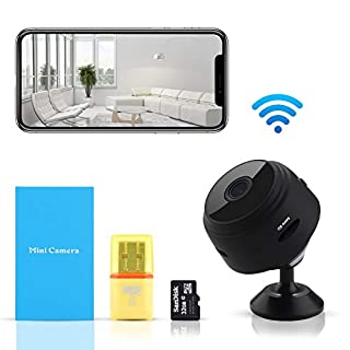 LIVCRT Mini HD Wireless Hidden Camera Magnetic Feature for Easy Installation with Smart Motion Detection Instant Push Notifications Night Vision Spy Cam - Mini Spy Camera