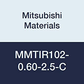 2.5/° Angle with Coolant 0.600 Cutting Dia. Right 0.625 Shank Dia Mitsubishi Materials MMTIR102-0.60-2.5-C Internal Threading Boring Bar with MMT11IR Insert