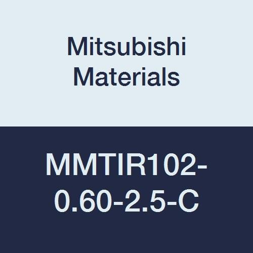 Mitsubishi Materials MMTIR102-0.60-2.5-C Internal Threading Boring Bar with MMT11IR Insert, Right, With Coolant, 2.5° Angle, 0.625'' Shank Dia, 0.600'' Cutting Dia.