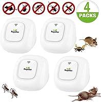 Insektenvernichter Elektrisch,Mückenschutz elektrisch,Ultraschall Schädlingsbekämpfer, Innenräumen Mini Pest Control...