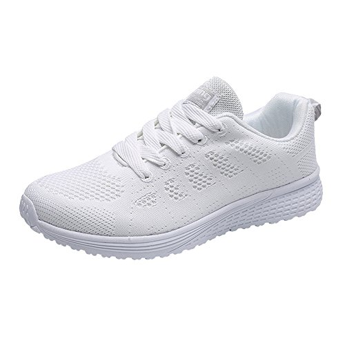 HAALIFE◕‿Walking Shoes for Women mesh Comfy Slip On Walking Shoes Lightweight Casual Running Sneakers White (Looks Like A Pump Feels Like A Sneaker)