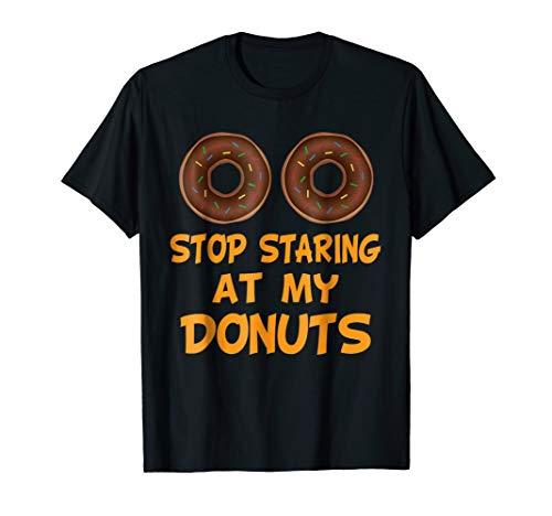 Funny Donut Boobs Tshirt Sarcastic Halloween Boobies Gift ()