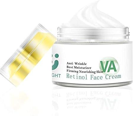 ZeLight Puro Crema Hidratante Retinol para la Cara con Ácido Hialurónico,Vitamina A- Crema Facial Mujer Hidratante de Antiedad&Antiarrugas para Mujer, 1.06 oz (crema de Retinol)