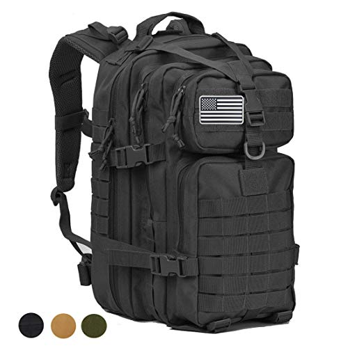 64a13d4f5c38 MEWAY 42L Military Tactical Backpack Large Assault Pack 3 Day Army  Rucksacks Molle Bug Out Bag Outdoors Hiking Daypack Hunting Backpacks  (Black)