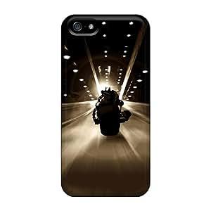 High Grade Janehouse Flexible Tpu Case For Iphone 5/5s - Dark Knight Batman Batpod