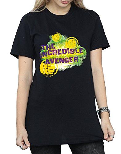 Hulk Mujer Del Incredible Fit Negro Novio Marvel Camiseta Avenger CUAwO55q