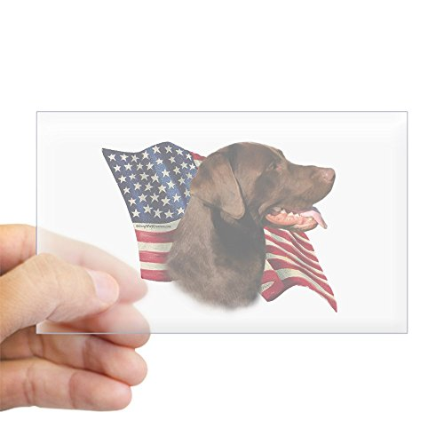 CafePress Chocolate Lab Flag Rectangle Sticker Rectangle Bumper Sticker Car ()