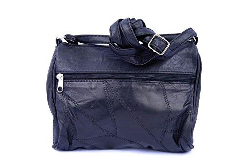 Tienda Calidad 9124PN Basic Collection Bolsos bandolera, 22 cm, Negro