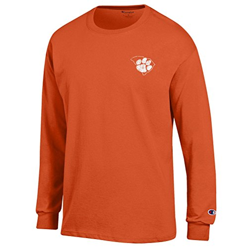 Champion NCAA Clemson Tigers Men's Men's Homecoming Long Sleeve T-Shirt, X-Large, Orange