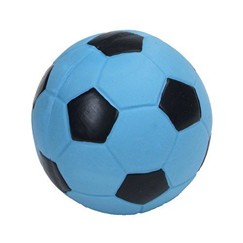 Coastal Pet 3'' Rascals Blue Latex Soccer Ball for Puppies and Dogs (2-Pack)