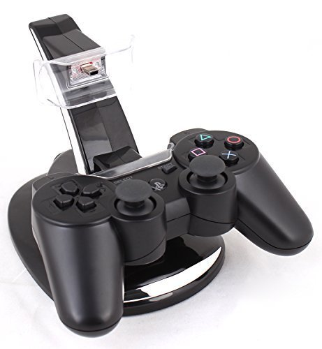 USPRO® Charging Station for SONY Playstation 3 PS3 Bluetooth 6 Axis Wireless Game Controller Gamepad Joypad Dualshock