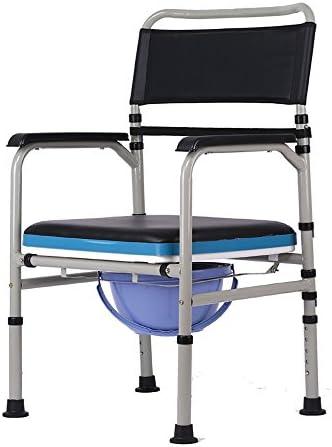 Cqq Badestuhl Ältere Bedside Toilette/Badehocker der schwangeren Frau/Edelstahl-Toilettensitz/Schemel-Schemel zusammenklappbare bewegliche höhenverstellbare Toilette