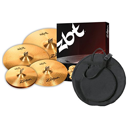 Zildjian ZBTP390A ZBT 5 Cymbal BOX SET with Free 18 Inch ZBT Crash and Cymbal Bag (Zildjian Sets Box)