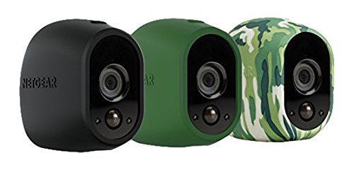 Arlo Accessory - Skins | Set of 3 - Black, Camouflage, Green |Compatible with Arlo only| (VMA1200)