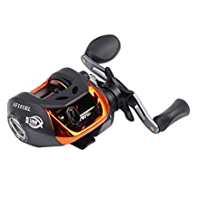 Forfar Fishing Baitcasting Reel Outdoor Baitcasting Bait Crank Lure Cast Reel For Rod Pole Reel Wheel Fishing Trolling Gear Left/Right 6.3:1 10+1BB