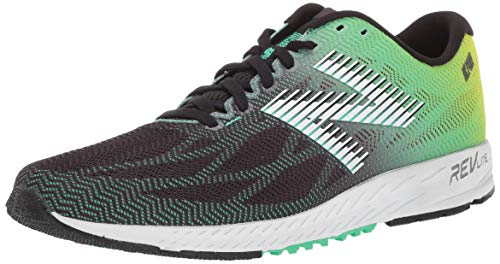 New Balance Men's 1400v6 Walking Shoe, Black/NEON Emerald/HI-LITE, 10.5 D US (New Balance Track Shoes)