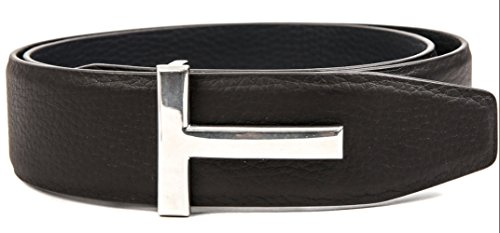 Wiberlux Tom Ford Men's T-Frame Buckle Belt 38 - 95 Dark - Contact Ford Tom