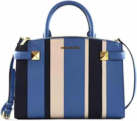 78b4a405a29e Michael Kors Karla Saffiano Leather East West Satchel Crossbody Bag Purse  Handbag