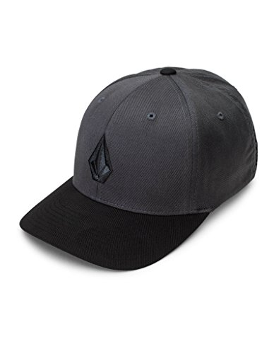 Volcom Men's Full Stone Xfit Hat, Asphalt Black, Large/X-Large