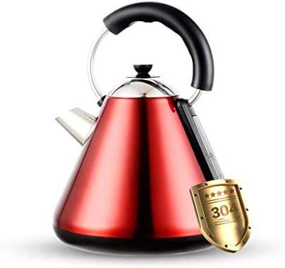 電気ポット、温度制御の高速沸騰やかんデジタルディスプレイのタッチベース、。BPAフリーのステンレスケトル、 ジャーポット (Color : Red)