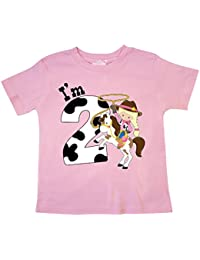 I'm Two-cowgirl riding horse birthday Toddler T-Shirt