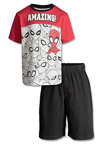 Marvel Avengers Spiderman Boys' T-Shirt & Shorts Clothing Set, Little Kids (Red, - Marvel Shirts 6x T