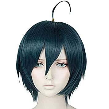 Amazon Com Wks Shuichi Saihara Wig Free Cap Anime Danganronpa Cosplay Wig Short Deep Blue Costume Beauty *literally explains why everything up to the final chapter was not pointless* ok but it was. wks shuichi saihara wig free cap anime danganronpa cosplay wig short deep blue costume