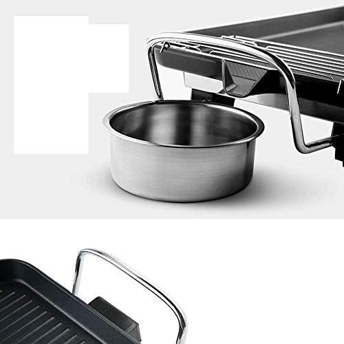 BHDYHM Teppanyaki Grill électrique Hot Pot Multifonctionnel, Intérieur Teppanyaki Grill Shabu Shabu Pot, Camping Party Cuisine en Plein air Barbecue