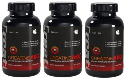 La croissance musculaire Créatine AKG-Créatine AKG Avec L-Taurine 270 Capsules 3 Bouteilles