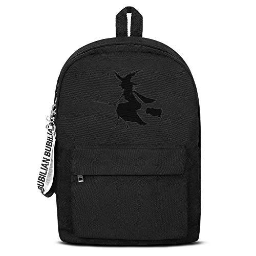 Witchcraft Halloween Women Men Water Resistant Black Canvas School Backpack Laptop -